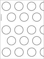 Hazelnut chocolate macarons plus printable template for Macaron baking sheet template