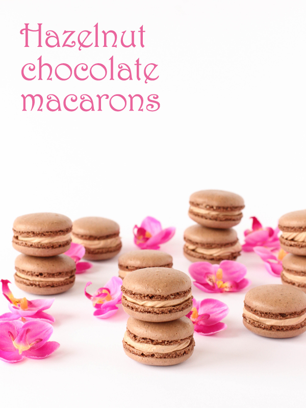 Hazelnut Chocolate Macarons Plus Printable Template  Pizzarossa