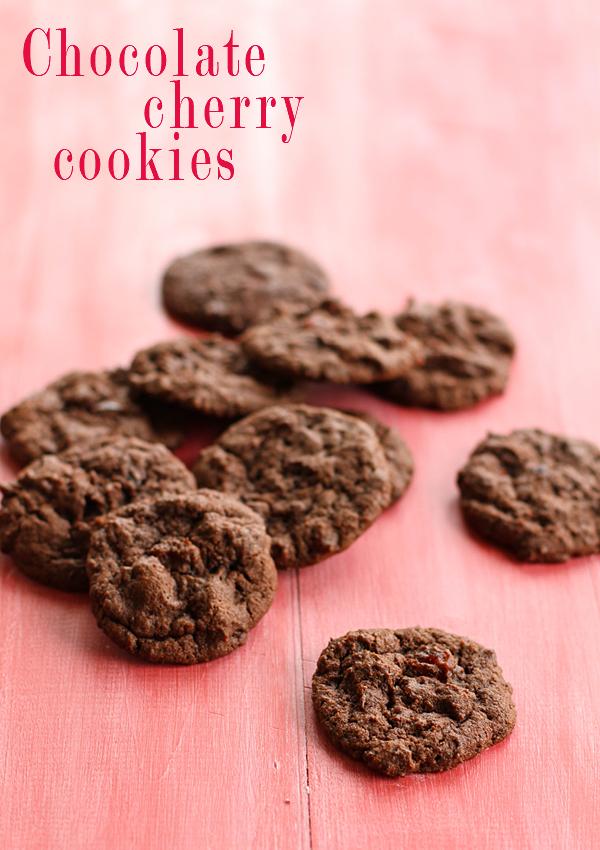 choc cherry cookies final