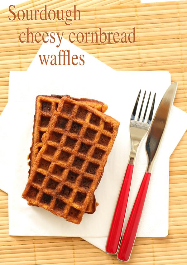 sourdough cheesy cornbread waffles final