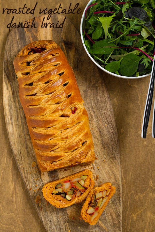 roasted vegetable danish braid